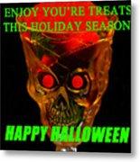 Brain Desert Halloween Card Metal Print