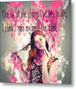 Brainless Teen Bimbo Metal Print
