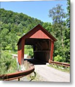 Braley Covered Bridge Metal Print
