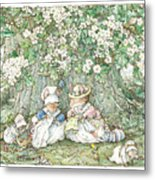 Brambly Hedge - Hawthorn Blossom And Babies Metal Print