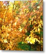 Branch Of Autumn Leaves Metal Print