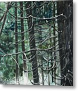 Branch Patterns I Metal Print