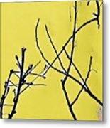 Branching Out Snowscape 3 Metal Print