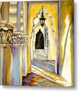 Brand Library Hall Metal Print by Milagros Palmieri