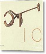 Branding Iron Metal Print