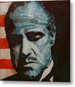 The Godfather-brando Metal Print