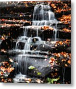 Brandywine Falls In Autumn Metal Print