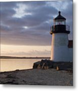 Brant Point Light Number 1 Nantucket Metal Print by Henry Krauzyk