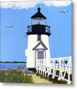 Brant Point Lighthouse Painting Metal Print