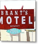 Brants Motel Sign Barstow Metal Print