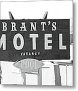 Brants Motel Signage Metal Print