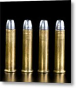 Brass And Lead Bullets. Metal Print