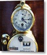 Brass Auto-meter Speedometer Metal Print