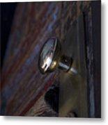 Brass Door Knob I Metal Print