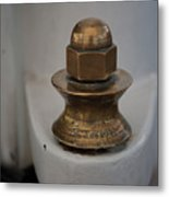 Brass Nut Metal Print