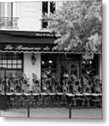 Brasserie Early Morning Metal Print