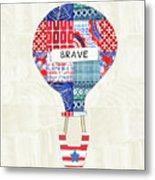Brave Balloon- Art By Linda Woods Metal Print