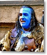 Braveheart Busker In Edinburgh Metal Print