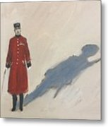 Bravery Has A Shadow - The Chelsea Pensioner  Metal Print
