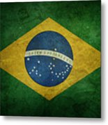 Brazil Flag Metal Print