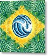 Brazil Wave 01 Metal Print