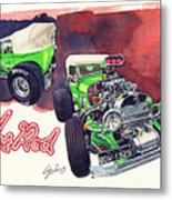Brazilian Hot Rod V8 Metal Print