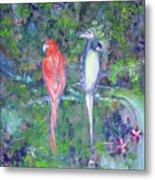 Brazilian Parrots Metal Print
