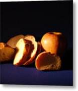 Bread And Apple Metal Print