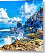 Breakers On The Rocks At Kenridgeview - On - Sea L B Metal Print