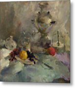 Breakfast Aristocrat Metal Print