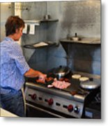 Breakfast Chef Metal Print