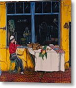 Breakfast In Capri Metal Print