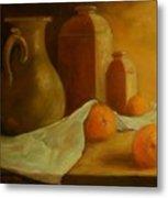 Breakfast Oranges Metal Print by Tom Forgione