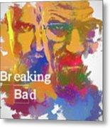 Breaking Bad Watercolor Metal Print