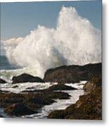 Breaking On The Shore Metal Print