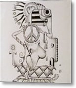 Breaking Peace  Metal Print