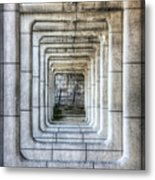 Breaking Through The Forth Wall Metal Print