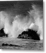 Breaking Wave At Pacific Grove Metal Print