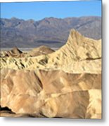 Breath Taking Landscape Of Zabriskie Point Metal Print