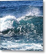 Breathe Like Water Kashmir Blue Sapphire Metal Print
