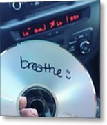 Breathe Mix Cd Metal Print