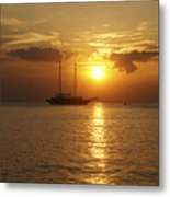 Breathtaking Sailboat Ocean Sunset #0182 Metal Print