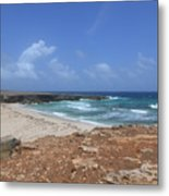 Breathtaking View Of Daimari Beach In Aruba Metal Print