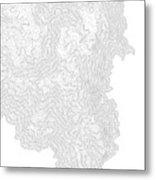 Breckenridge Mountain Art Print Contour Map Of Breckenridge Moun Metal Print