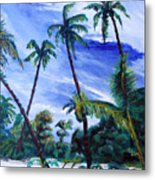 Breezy Blue Skies Metal Print