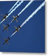 Breitling Team Crowd Pleases At Reno Air Races Metal Print