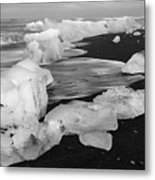 Brethamerkursandur Iceberg Beach Iceland 2319 Metal Print