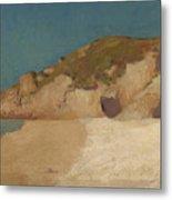 Breton Coastline Metal Print
