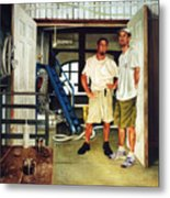 Brew Dudes Metal Print by Gregg Hinlicky