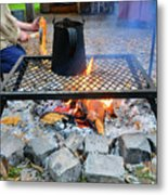 Brewing Outdoors Metal Print
